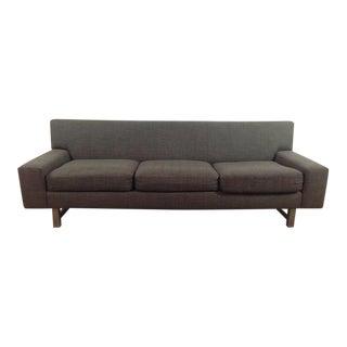 Crate & Barrel Mid-Century Modern Gray Three-Cushion Sofa
