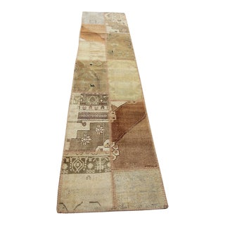 Turkish Vintage Overdyed Patchwork Oushak Runner - 2′3″ × 10′3″
