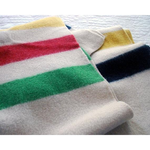 1940s Striped Wool Camp Blanket - Image 3 of 7