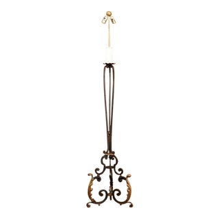 Early 20th Century French Iron Floor Lamp