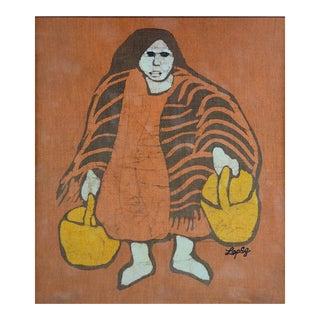 Batik Portrait by Mary Louise Lopez