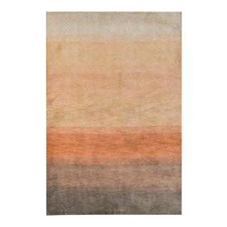 "Contemporary Hand Woven Orange Wool Rug - 5'8"" X 8'11"""