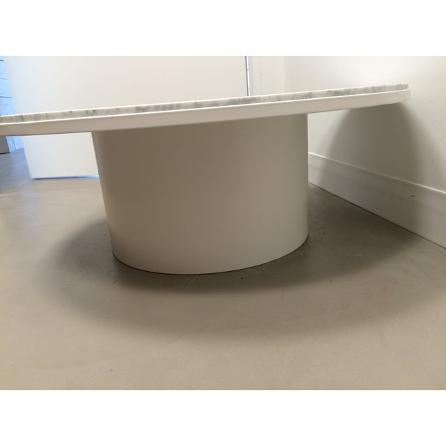 blu dot white marble plateau coffee table chairish