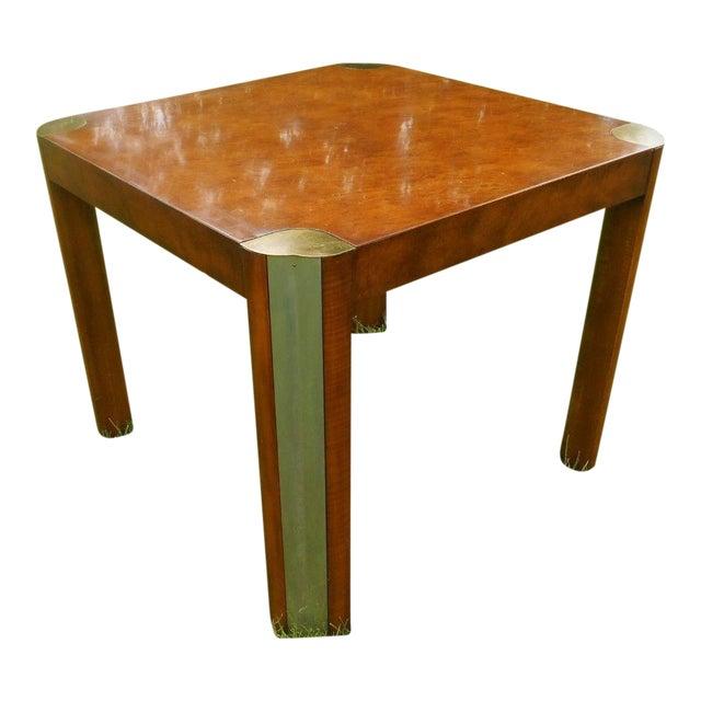 Milo baughman style mid century burl wood brass dining