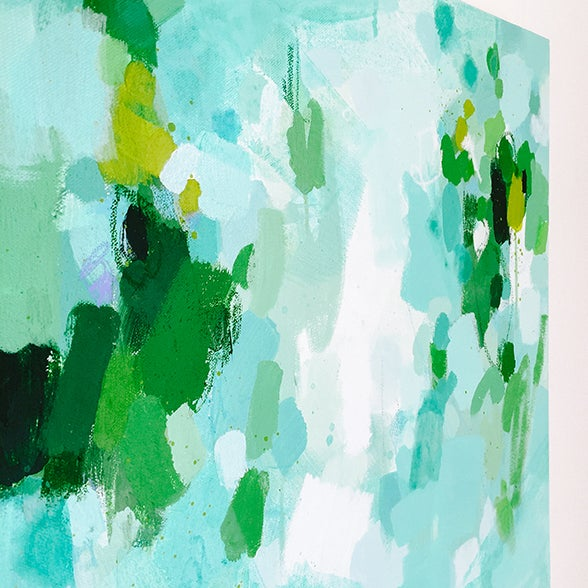Katherine Jury - Green Botanical I Painting - Image 3 of 4