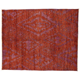 "Contemporary Moroccan Style Area Rug With Abstract Design - 9'2"" X 11'4"""