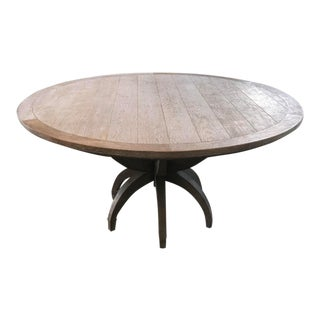 Global Views Klismos White Oak Round Table