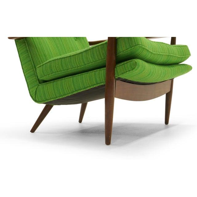 Rare George Nakashima for Widdicomb High Back Lounge Chair and Ottoman - Image 10 of 11
