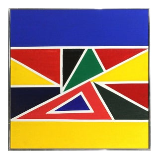 1970s Abstract Geometric Painting