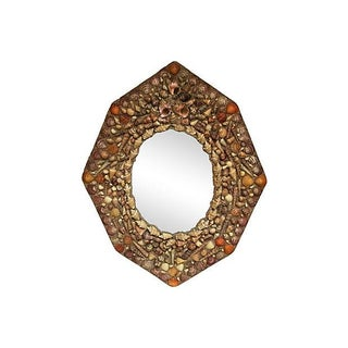 Hexagonal Shell Mirror