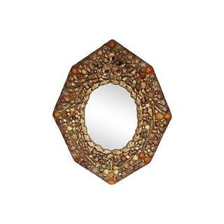 Hexagonal Shell Mirror