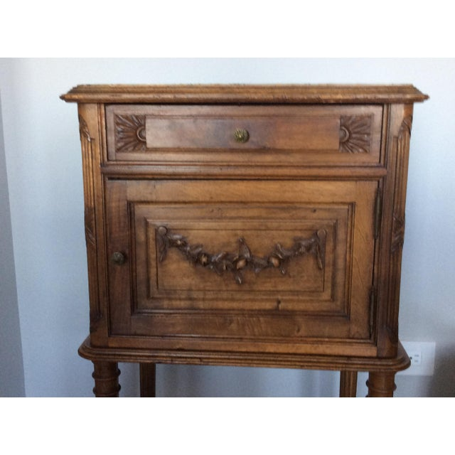 Antique Louis XV Style Nightstand - Image 3 of 5