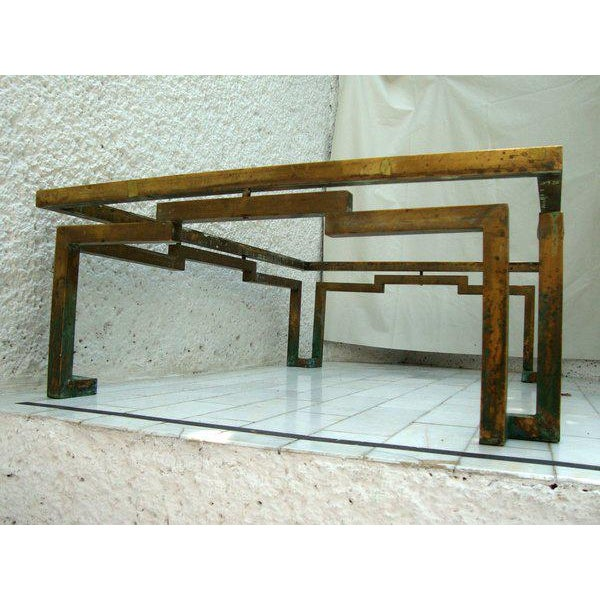 Arturo Pani Rectangular Coffee Table in Brass - Image 4 of 5