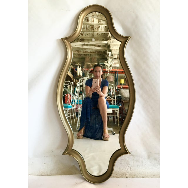 Gilt Wood Cartouche Form Framed Mirror - Image 2 of 7