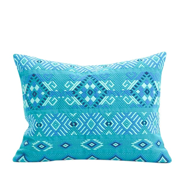 Guatemalan Turquoise Pillow - Image 1 of 4