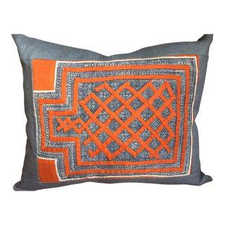 Indigo Hmong Textile Pillow