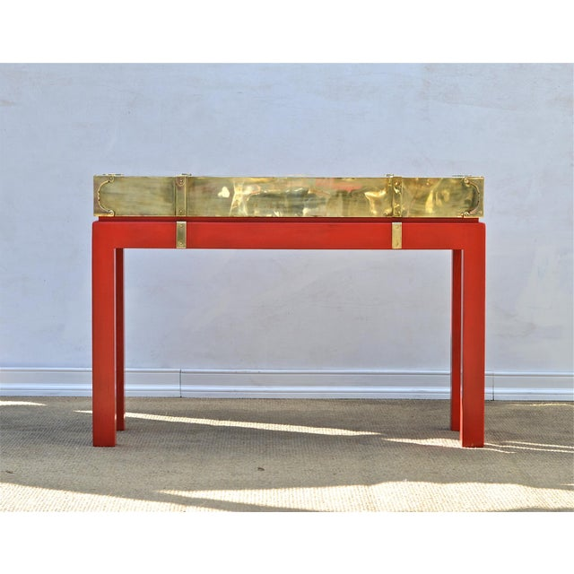 Brass Campaign Style Console - Image 2 of 9
