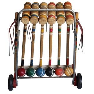Vintage Croquet Set - Set of 22