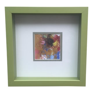 Original Abstract Painting Framed and Matted
