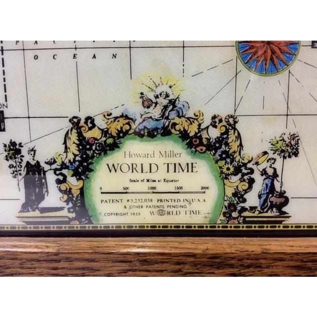 Vintage Howard Miller World Clock - Image 2 of 4