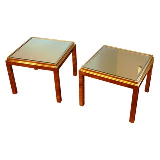 Willy Rizzo Style Side Tables - Pair