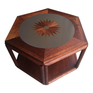 Brown Saltman John Keal Mid-Century Inlaid Laminate Walnut Table
