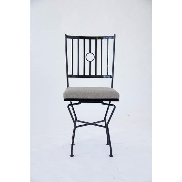 swivel wrought iron patio dining chairs 4 chairish