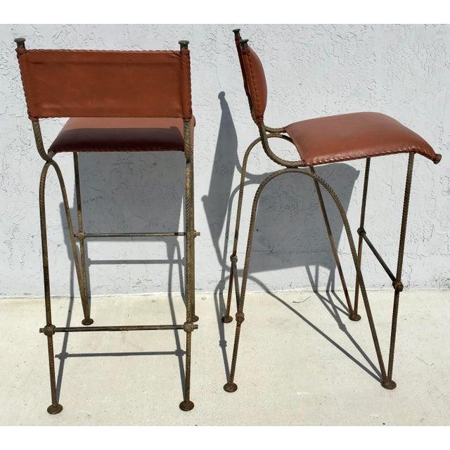 Ilana Goor Style Bar Stools - A Pair - Image 4 of 7