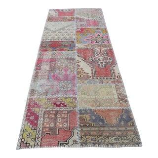 Tribal Floor Patchwork Runner Rug - 2′11″ × 9′4″