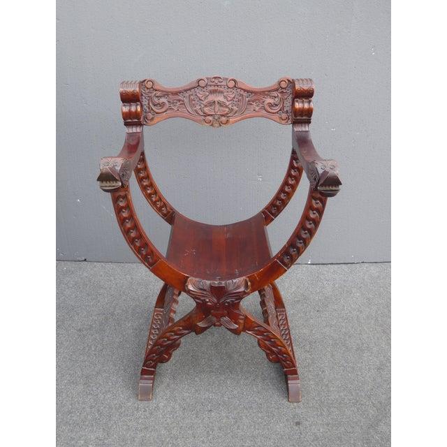 Vintage Asian Style Savonarola Chair - Image 3 of 11
