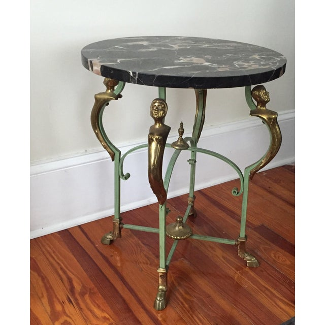 Antique French Marble Table - Image 2 of 9