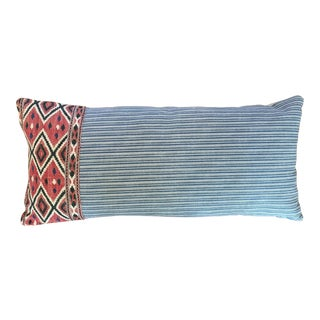 One of a Kind Pillow With Vintage Textile Trim