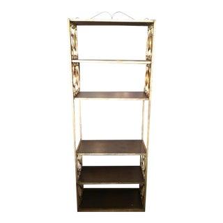 Vintage Gold Wrought Iron Shelves Unit