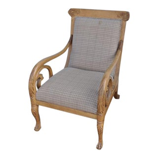 Trouvailles Hand-Carved Lounge Chair