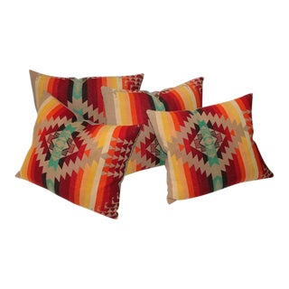 Amazing Flying Geese and Striped Pendleton Pillows