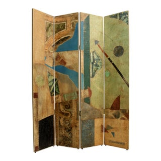 Collaged Post-Modern Folding Screen