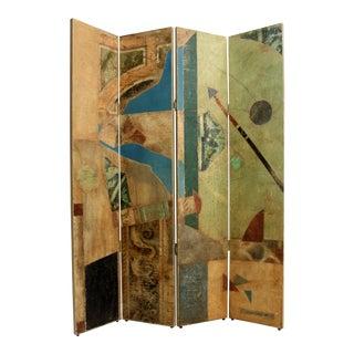 Postmodern, Pop-Art Folding Screen, Signed Jacques