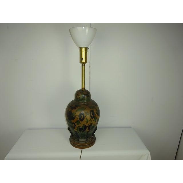 Marbro Vintage 1960s Italian Pottery Table Lamp - Image 4 of 7