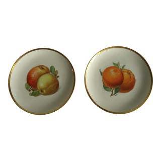 Vintage German Porcelain Fruit Plates - A Pair