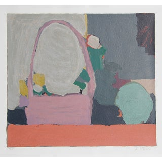 Samuel Tepler Serigraph - Pink Purse