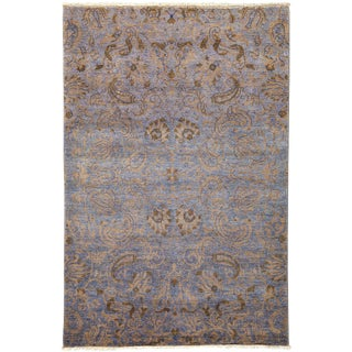 "Suzani, Hand Knotted Area Rug - 4' 1"" x 6' 2"""