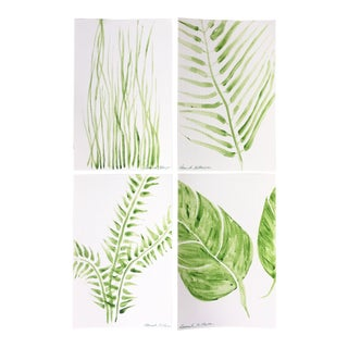 """Green Space No. 1"" Original Paintings - Set of 4"