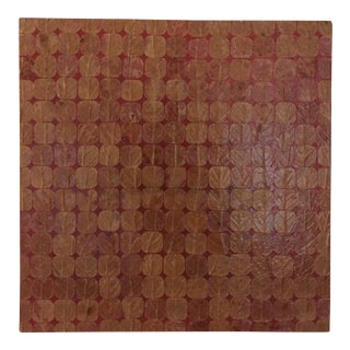 """Susy Siddens """"Red"""" Leaves Collage on Wood"""