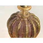 Image of Barovier Murano Purple and Gold Glass Lamp