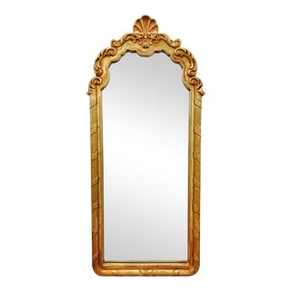 Vintage Gold Shell Top Mirror