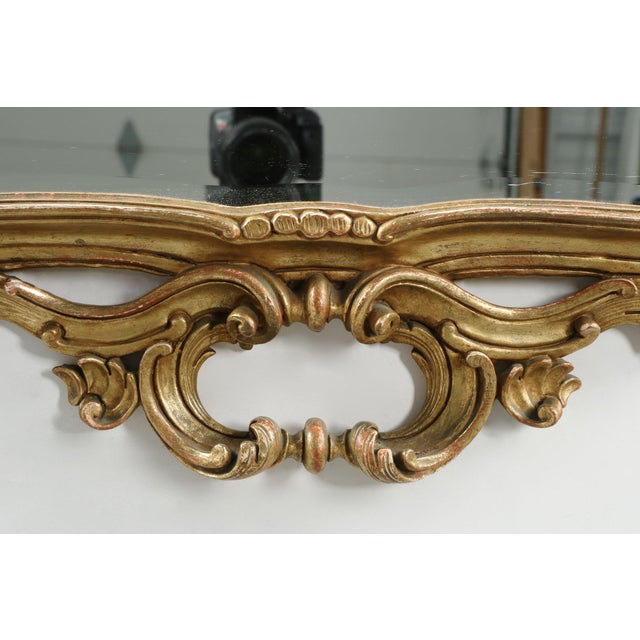 French Louis XV Style Carved Giltwood Antique Mirror - Image 4 of 10