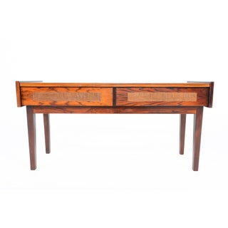 Danish Modern Rosewood & Copper Entry Chest