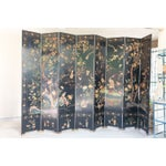 Image of Large Lacquered Asian Screen