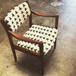 Image of Mid Century Danish Chair in African Mudcloth