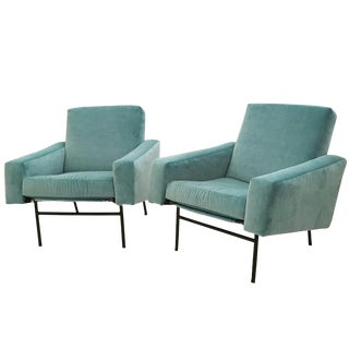 Pair of Mid-Century Club Chairs by Pierre Guariche